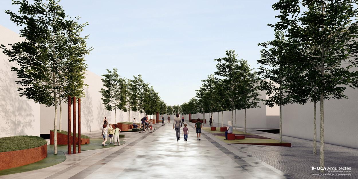 Propostes pels parterres de la Rambla Nova de Mollet del Valles, Barcelona OCA Architects Arquitectura architecture Hernan Lleida Bernardo Garcia6