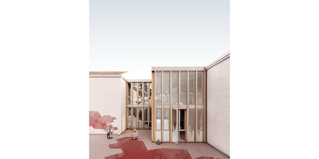 Reforma de una escuela primaria y secundaria en Quintanar del Rey, España OCA ARCHITECTS OCA arquitectos architecture design Hernan Lleida Bernardo Garcia