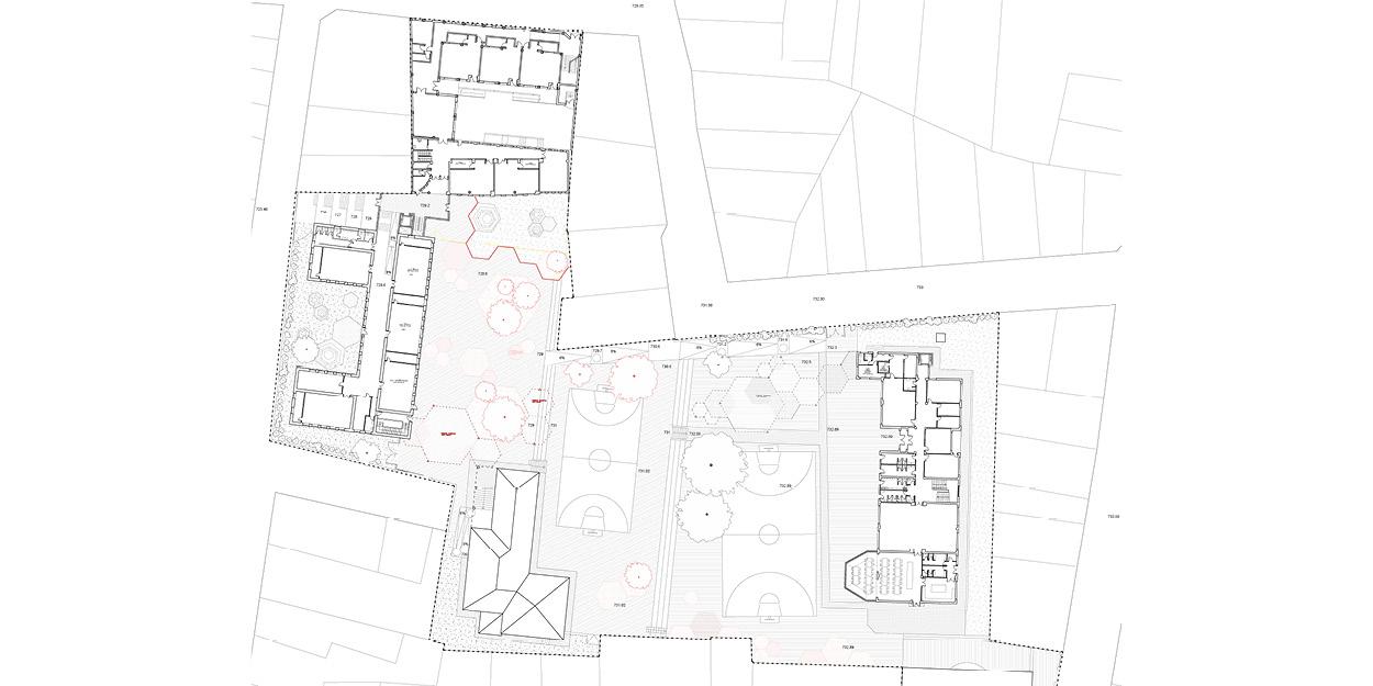 Reforma de una escuela primaria y secundaria en Quintanar del Rey, España OCA ARCHITECTS OCA arquitectos architecture design Hernan Lleida Bernardo Garcia3