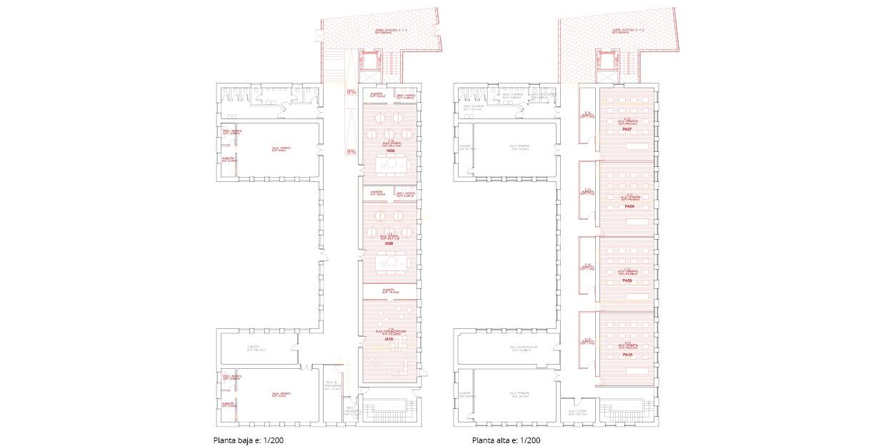 Reforma de una escuela primaria y secundaria en Quintanar del Rey, España OCA ARCHITECTS OCA arquitectos architecture design Hernan Lleida Bernardo Garcia6