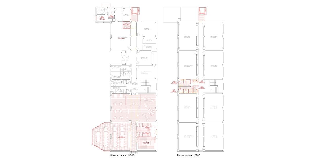 Reforma de una escuela primaria y secundaria en Quintanar del Rey, España OCA ARCHITECTS OCA arquitectos architecture design Hernan Lleida Bernardo Garcia63